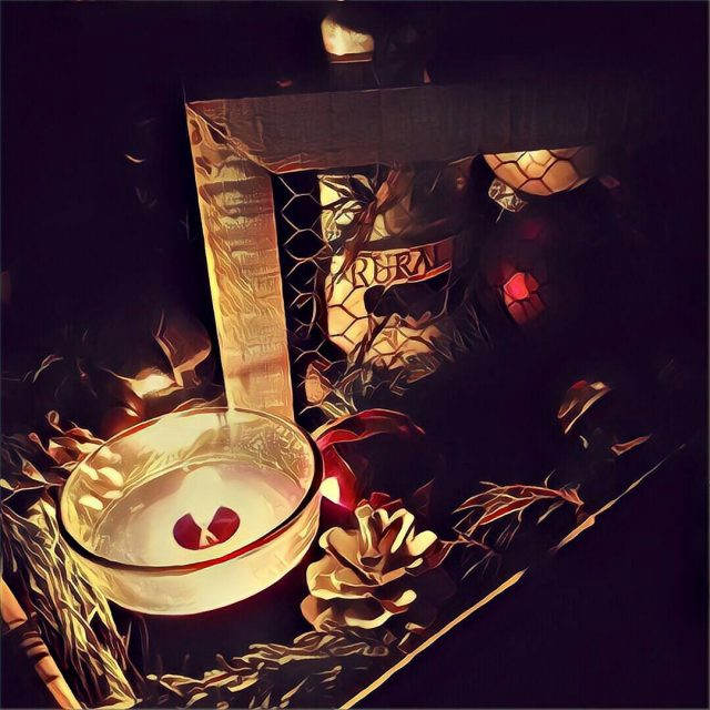 Using prisma on holiday decor looks like a painting photographyhellip