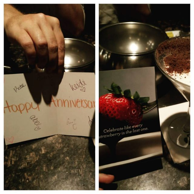 Restaurant staff gave us a signed card 3 stop forhellip