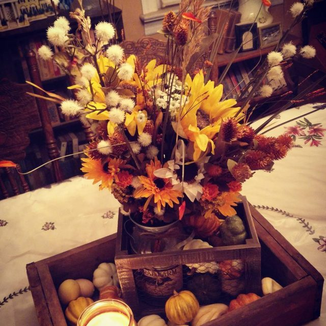My summers end harvest centerpiece for the season I lovehellip