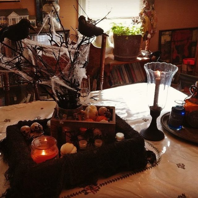 Closer up of the main centerpiece halloween crafts holidaydecor craftingReadhellip