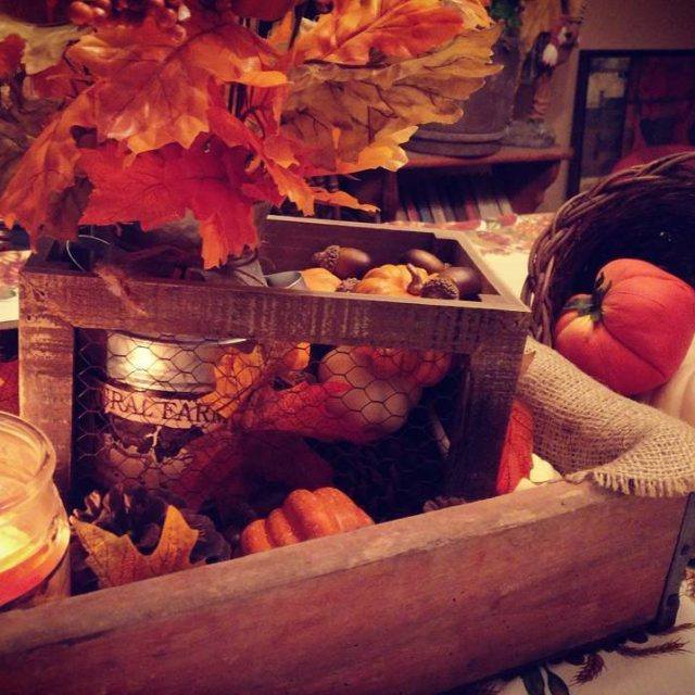 A little closer up The autumn centerpiece is finally uphellip