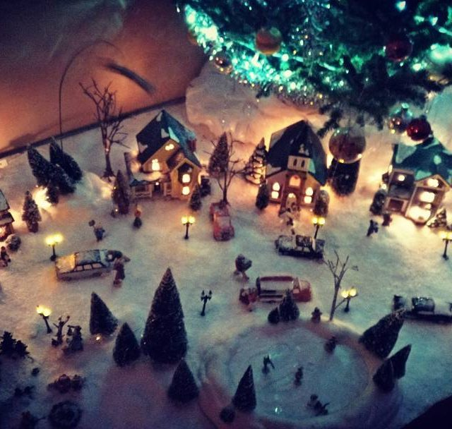 Holiday village christmas christmasdecor yule holidaydecor